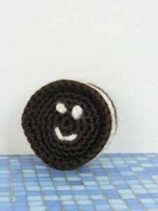 Oreo Cookie -  I've never put the face on these but usually put magnets on the back -  cute.