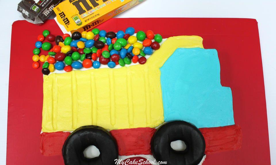 Dump truck sheet cake tutorial dump truck cakes cake