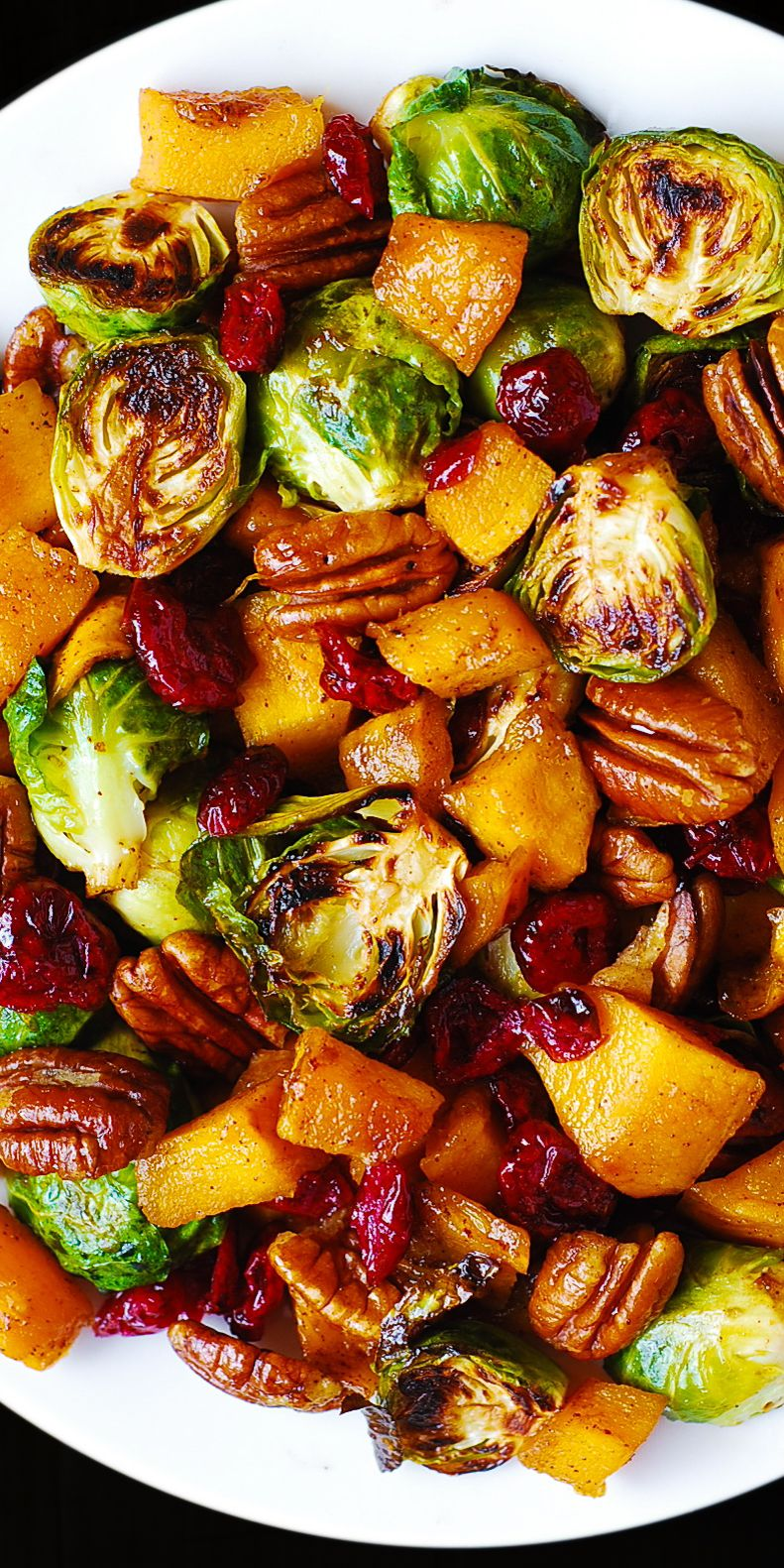 Thanksgiving Butternut Squash, Brussels sprouts wi