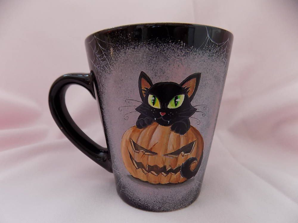 Containers - Mug - Halloween Kitty 2 - 5176693_