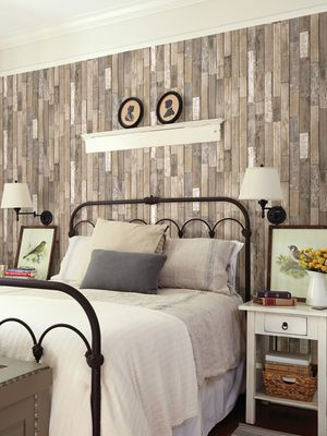 This Is Actual Wallpaper Barn Board Thin Plank Wallpaper Affiliate Home Decor Feature Wall Wallpaper Wood Wallpaper