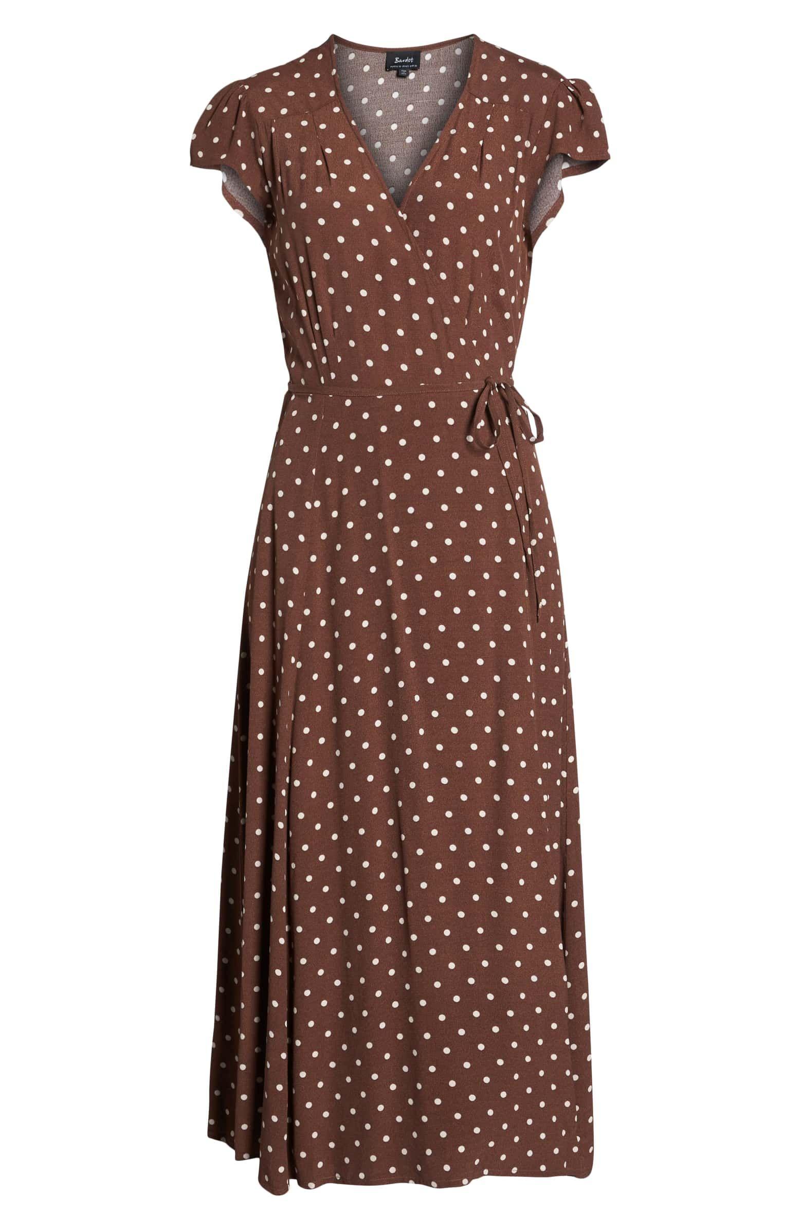 Bardot Polka Dot Wrap Dress Nordstrom Dresses Wrap Dress Nordstrom Dresses [ 2392 x 1560 Pixel ]
