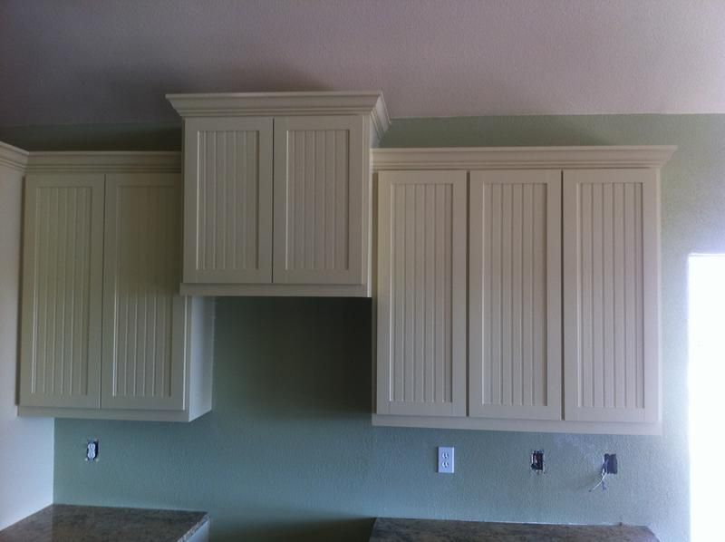 Beadboard kitchen cabinets. Add beadboard to stock cabinets ...