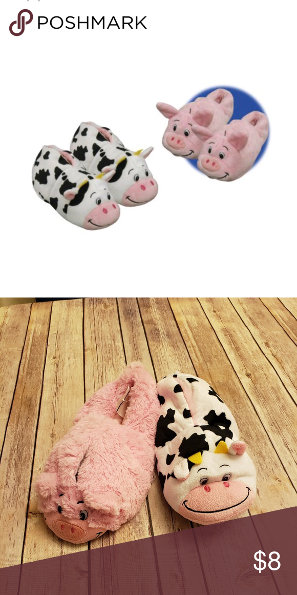 d49bb82dd765 Girls FlipaZoo Pig Cow Slippers Brand New flipazoo Shoes Slippers ...