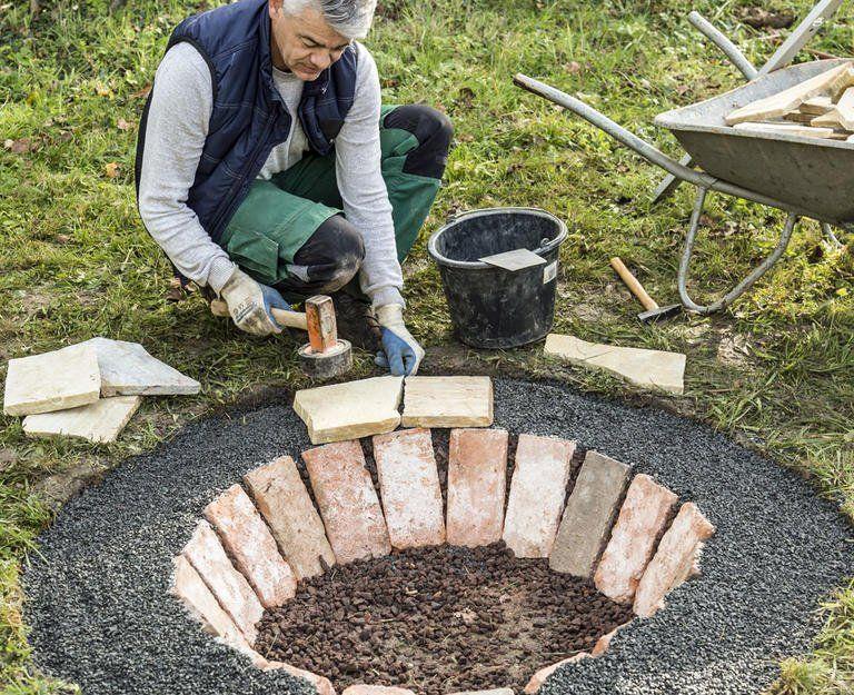 Eine Feuerstelle Selber Bauen So Geht S In 2020 Feuerstelle Selber Bauen Garten Landschaftsbau Landschaftsgestaltung Rund Um Baume