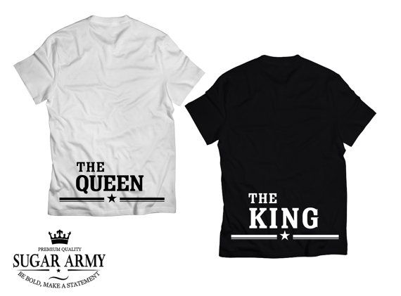 The queen and the king matching couple t shirts king queen shirts