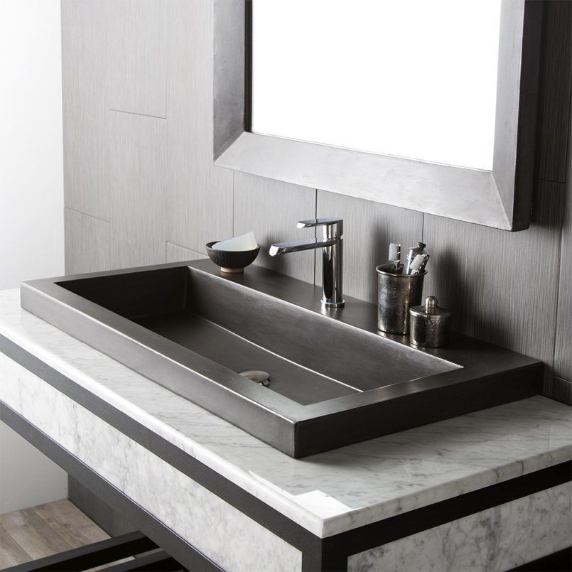 Bathroom Vanity Tops With Sink Marble 27 Inch Top Gray Console