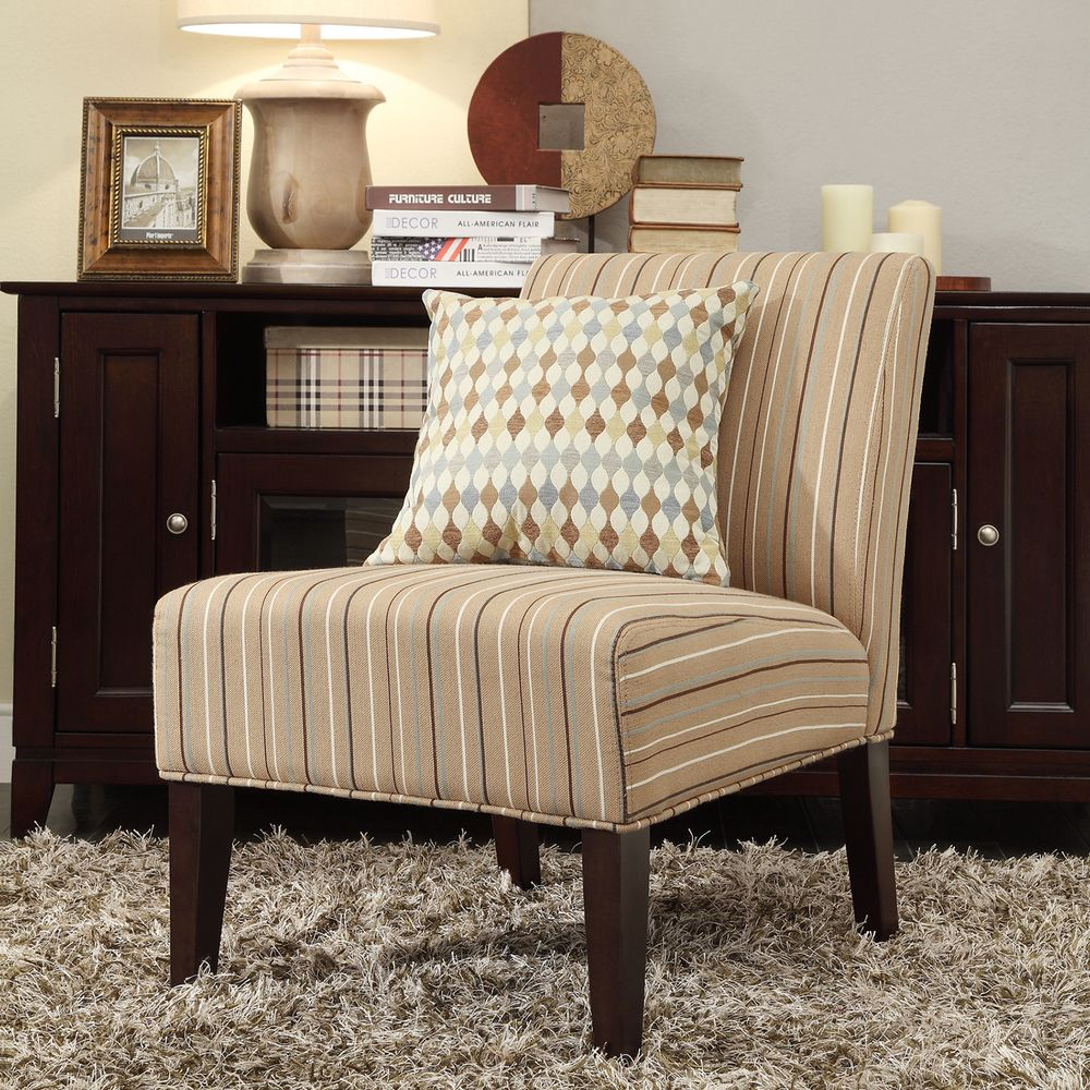 Room  INSPIRE Q Peterson Mocha Brown Stripe ...