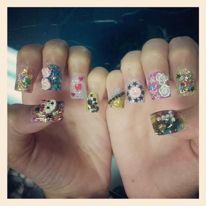 Talia Castellano\'s Nails!   Nails   Pinterest   Amazing nails, Hard ...