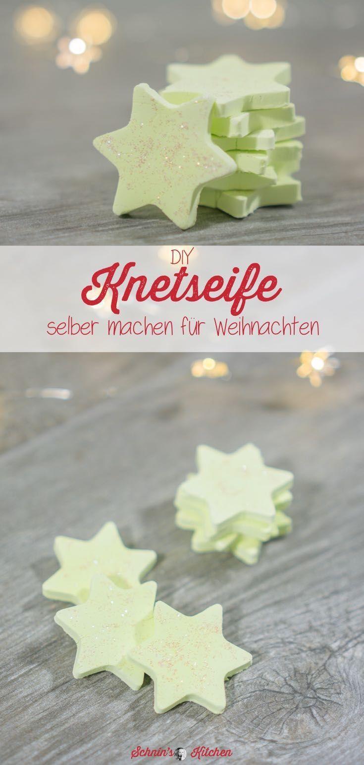 Knetseifensterne selber machen als Weihnachtsgeschenk - Schnin's Kitchen
