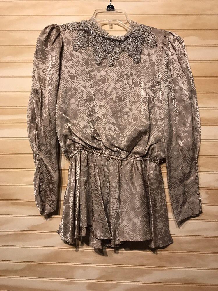 3e0447c9b62ee Vintage 70 s Shirt Silk Rina Di Montella Sz 6  RinaDiMontella