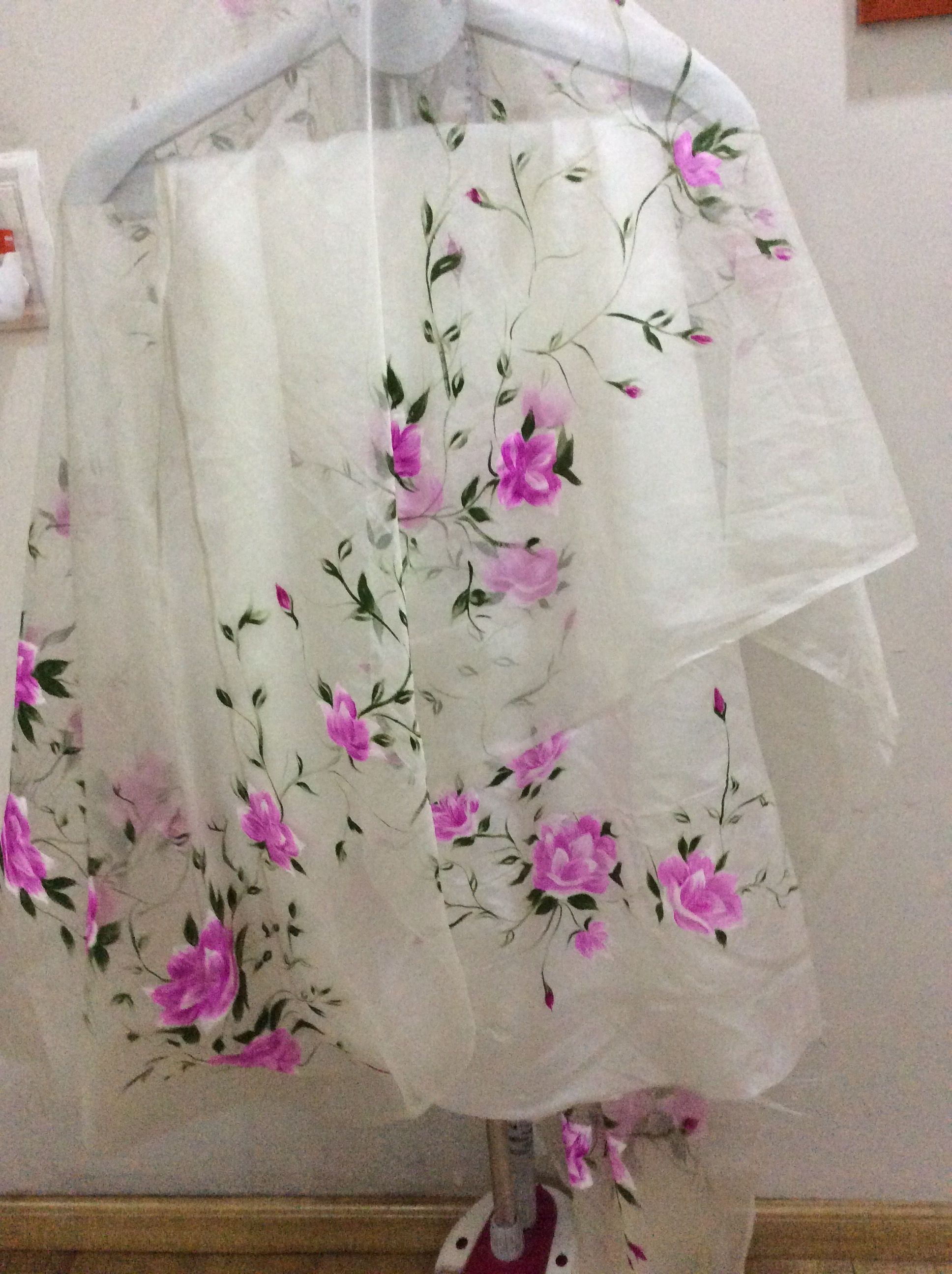 Suit Hand Painted Art In 2019 Sarees Saree Painting Design Dress