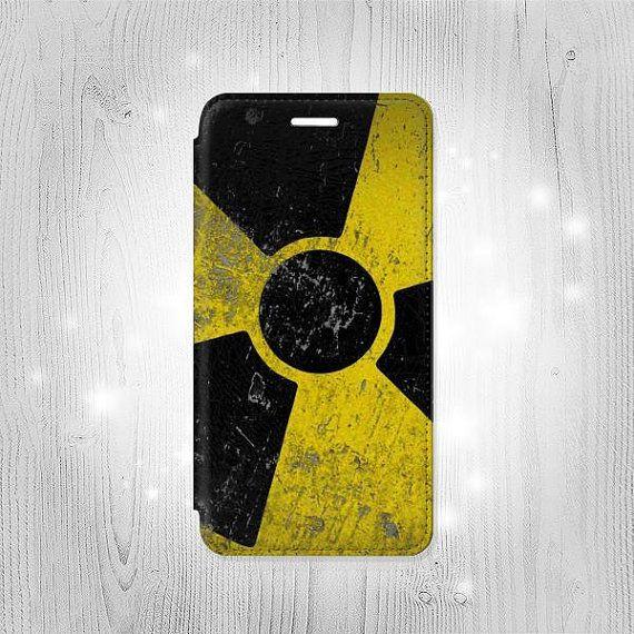 Nuclear Symbol Leather Flip Case For Iphone 7 7 Plus 6s 6 6 Se 5