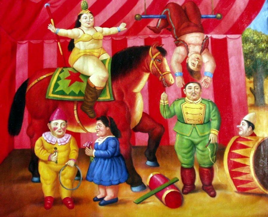 Gente del circo fernando botero cerca con google botero pinterest - Botero il bagno ...