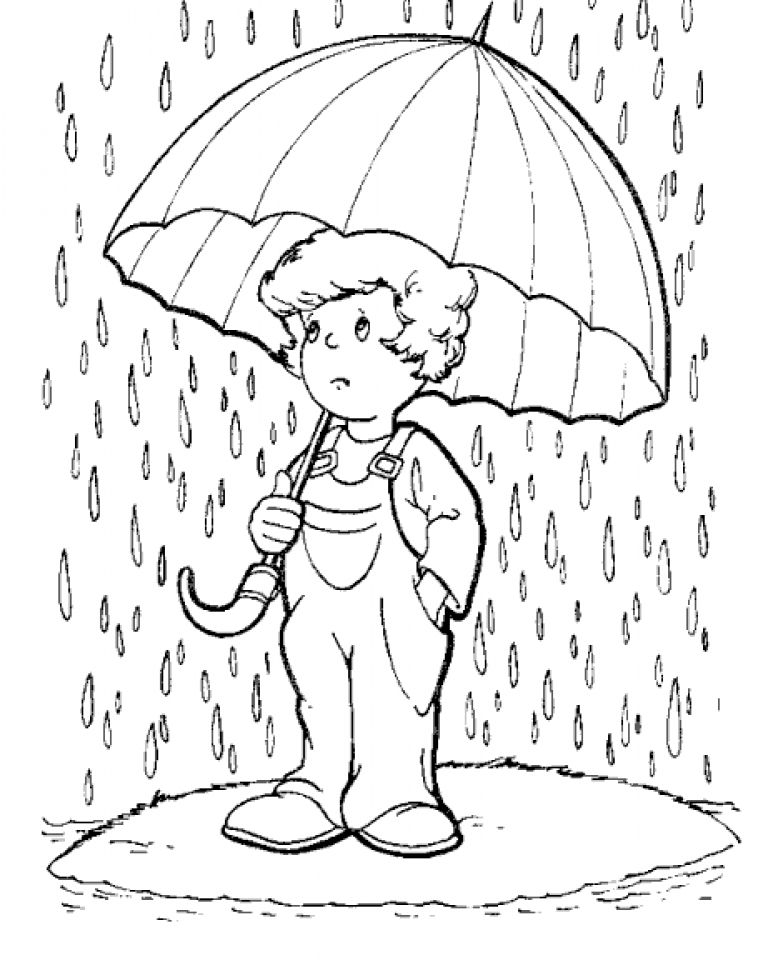 rain coloring pages 01 Pinterest Rain Painting