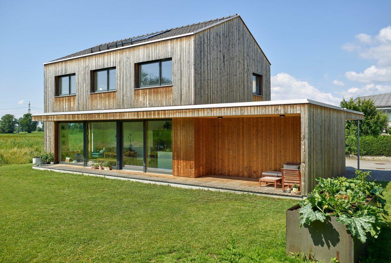 Einfamilienhaus M A Dornbirn Berchtold Holzbau Vorarlberg Holzbau Fassade Haus Einfamilienhaus