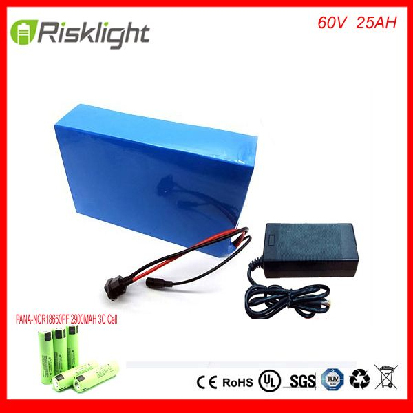 ebike lithium battery 60v 25ah lithium ion bicycle 60v 3000w