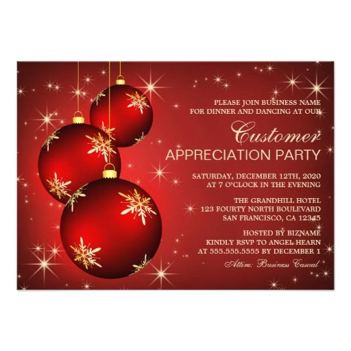 Holiday Customer Appreciation Invitation Templates Customer - business invitations templates