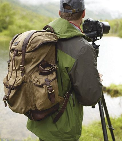 Waxed Cotton Continental Rucksack Backpacks Free