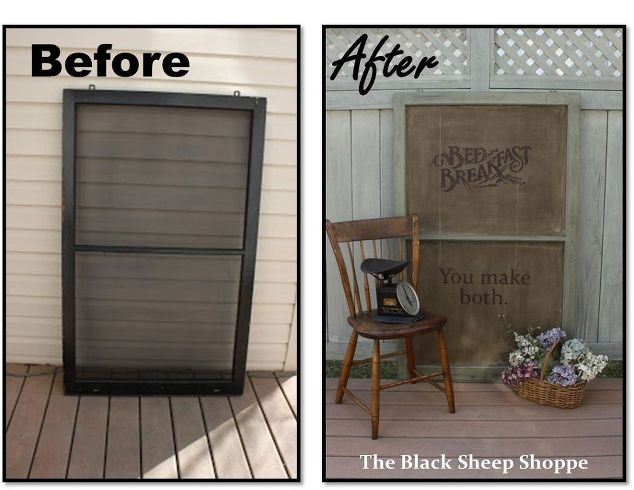 Joanna gaines would love this old window idea rustic for Decorative door frame ideas