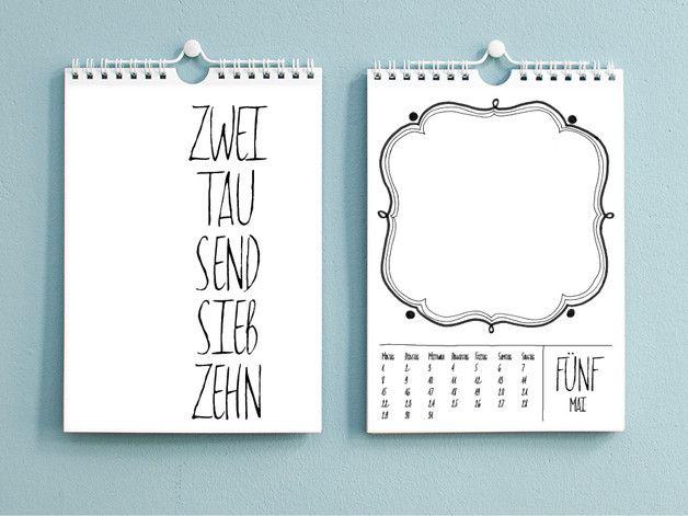 2018 fotokalender bastelkalender diy din a5 kalender. Black Bedroom Furniture Sets. Home Design Ideas