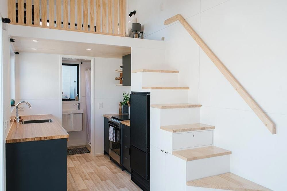 "8m ""Ibbotson"" Tiny House on Wheels by NZ-based BuildTiny #tinyhousekitchens"