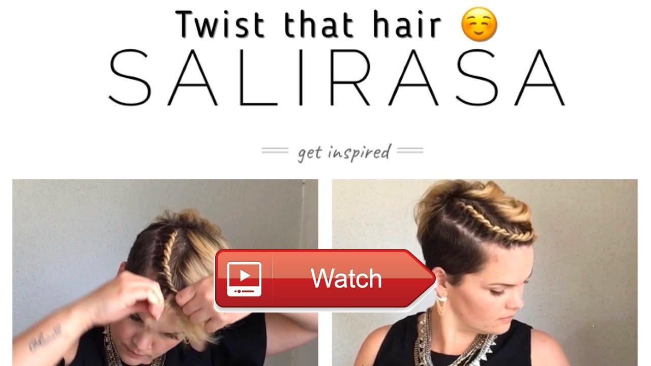 short hair tutorial twist that hair easyhairstyles