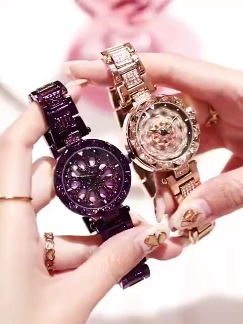 Luxury Rotate Crystal Watches