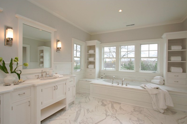 amazing relaxing bathroom paint colors   Milton Development: Amazing master bathroom with gray ...