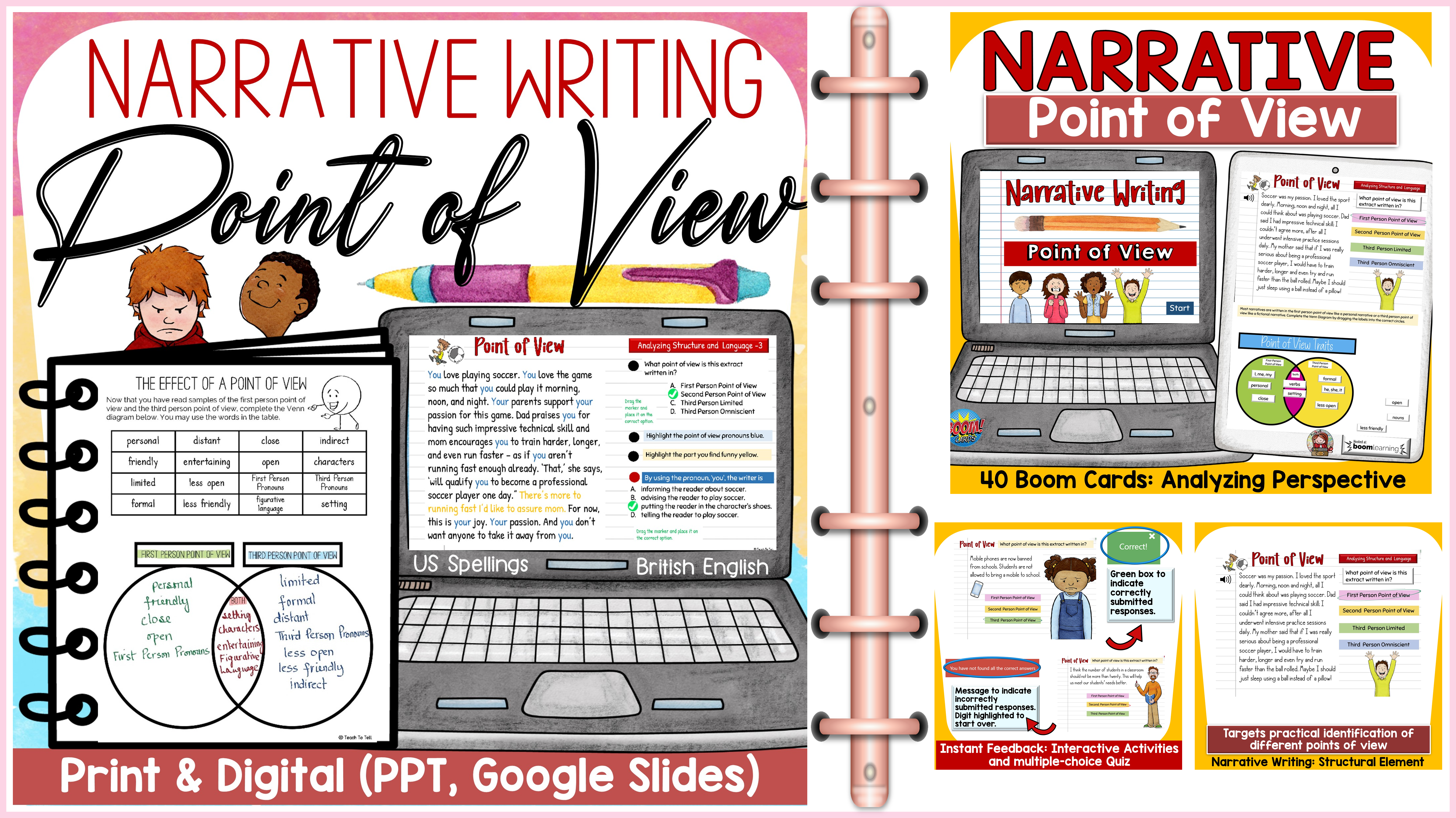 tpt narrative writing point of view