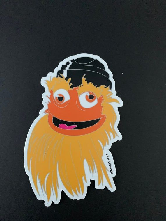 Chaos Face Gritty Sticker 4.05 by 5inches Bumper sticker laptop sticker Philadelphia Flyers