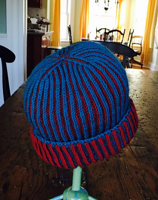 Ravelry: Project Gallery for Two-Color Brioche Hat pattern by Yana ...