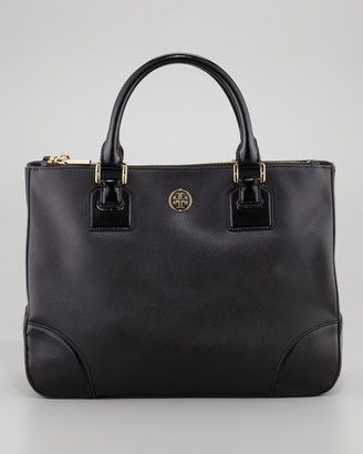 9c5c5d41c84 Professional Accessories - Tory Burch Robinson Double-Zip Black Bag with  shoulder strap