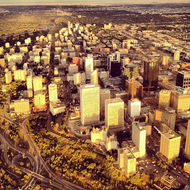 "Downtown Edmonton, Alberta @derekallenonair's photo: ""Downtown #yeg"""