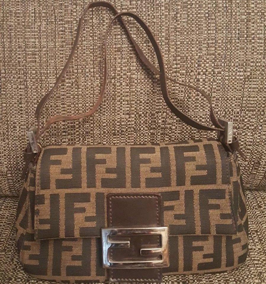 ESTATEFENDI Tobacco Zucca Mama Forever Bag Baguette Hobo Shoulder Bag Purse   fashion  clothing   fc736f05f90f3