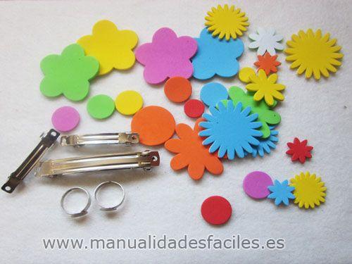 Necesitaremos plantillas de goma eva de colores y - Ideas de manualidades para vender ...