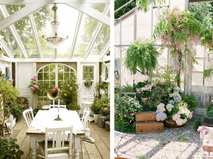 Blumen Pflanzen Dekor Im Wintergarten | Wohnen | Pinterest | Haus ... Wintergarten Gestalten Welche Pflanzen Kommen Rein