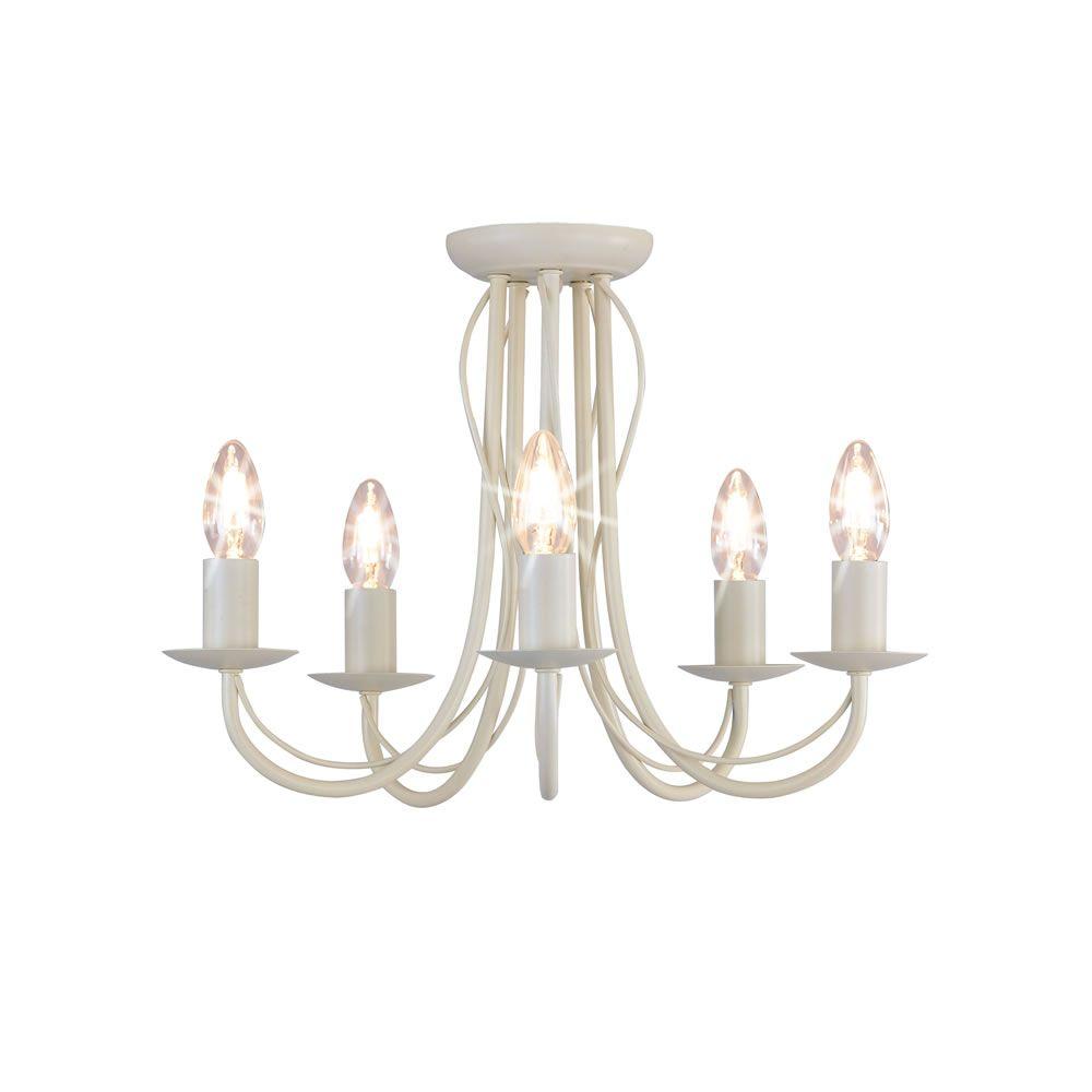Wilko 5 arm chandelier metal ceiling light fitting cream at wilko wilko 5 arm chandelier metal ceiling light fitting cream at wilko mozeypictures Choice Image
