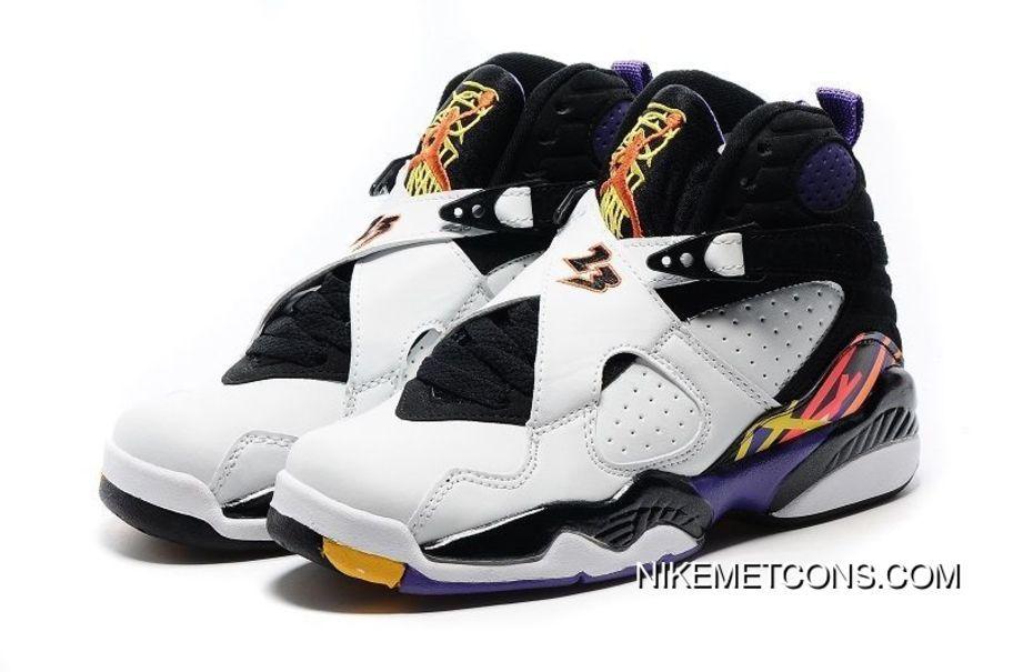"""Air Jordan 8s Retro """"Three Peat"""" White"""