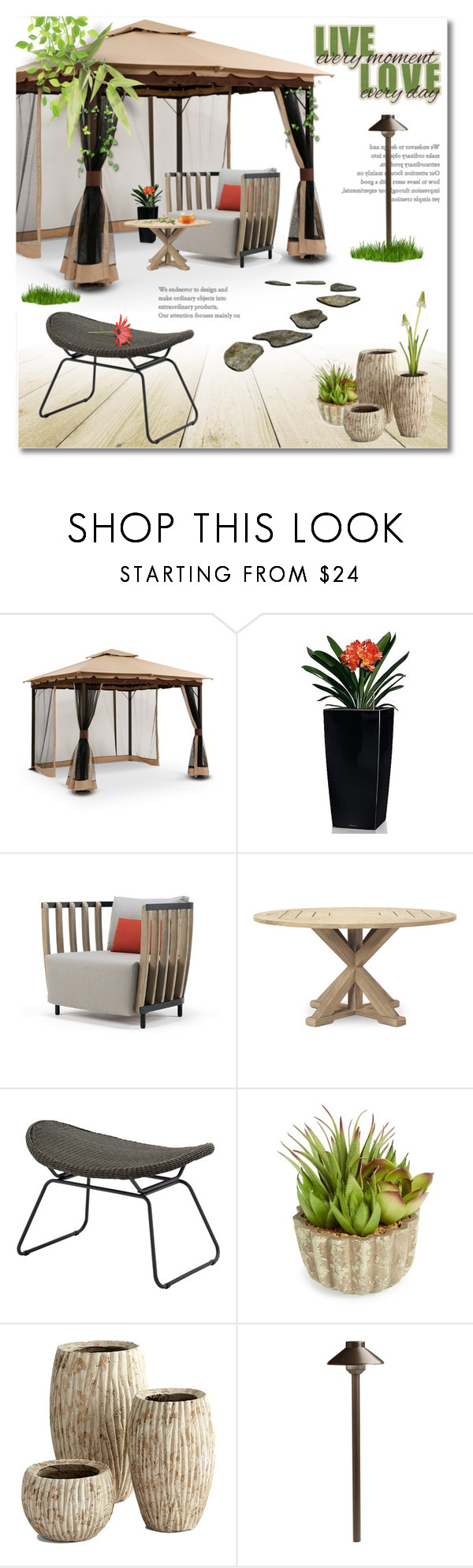 """""""Bali gazebo"""" by limass ❤ liked on Polyvore featuring interior, interiors, interior design, home, home decor, interior decorating, Lechuza, Ethimo, Gloster and Allstate Floral"""