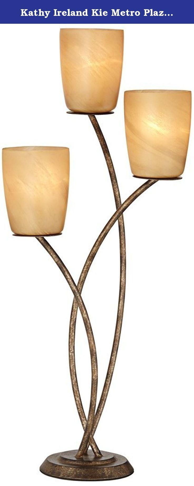Kathy ireland kie metro plaza uplight table lamp