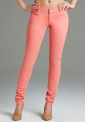 Paris Blues Colored Skinny Jean - Grapefruit
