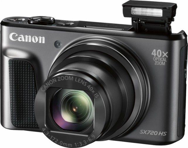 Canon - PowerShot SX720 HS 20.3-Megapixel Digital Camera - Black - AlternateView1 Zoom
