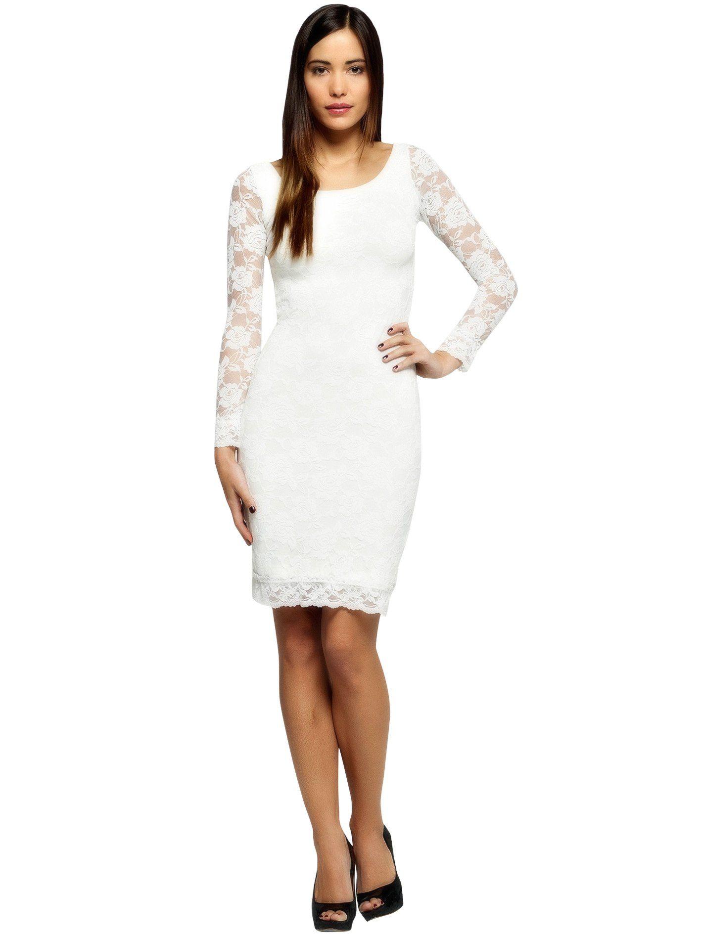 Cc usa womenus lois long sleeve sheer lace party knee length dress