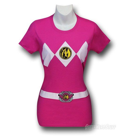 4beda0948ad Power Rangers Pink Ranger Juniors T-Shirt