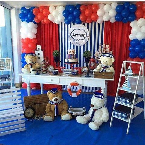 Pin de liz z lopez en decoraci n marinero ian 1 pinterest cumplea os fiestas y osos - Fiesta marinera decoracion ...