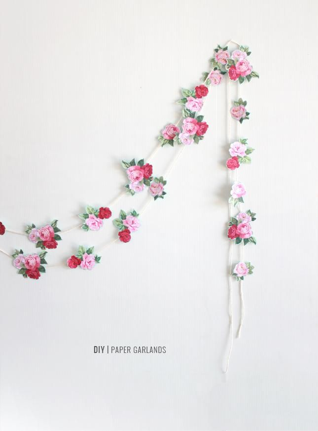 DIY Paper Garland : DIY Paper Garlands for Spring