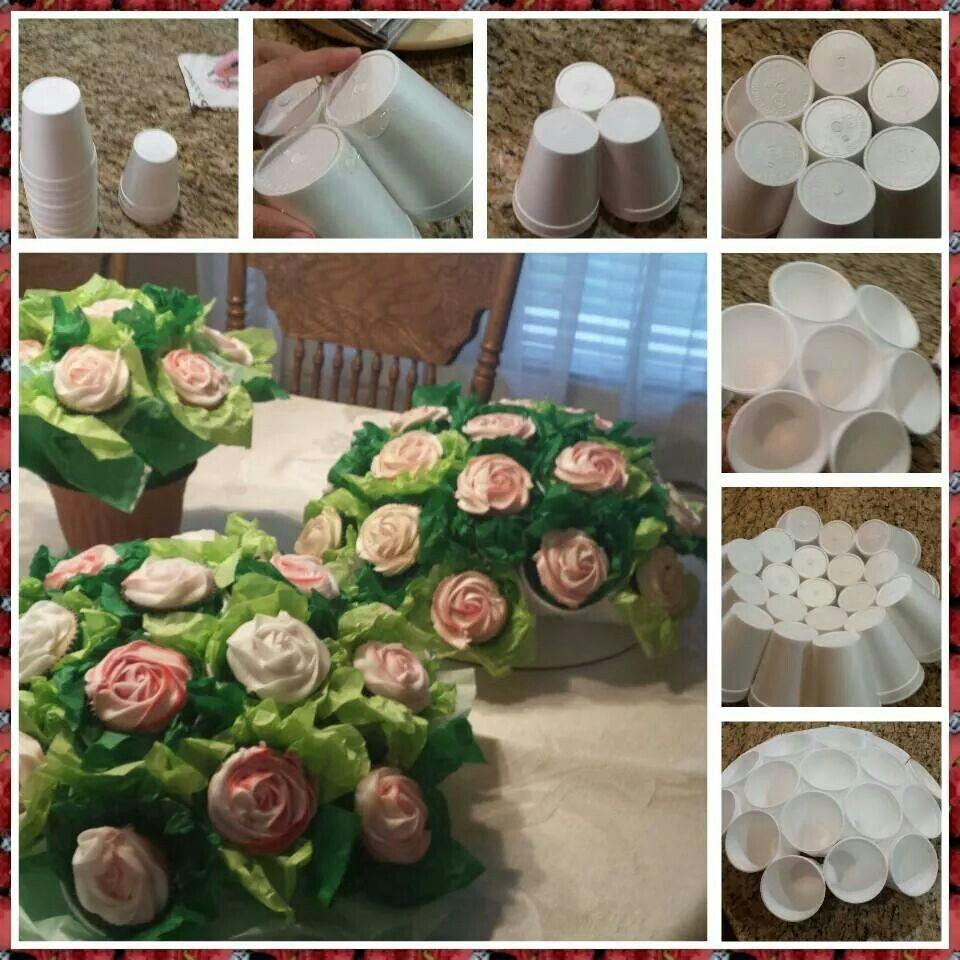 Cupcake Flower Bouquet Tutorial Bake Ideas Pinterest Cupcake