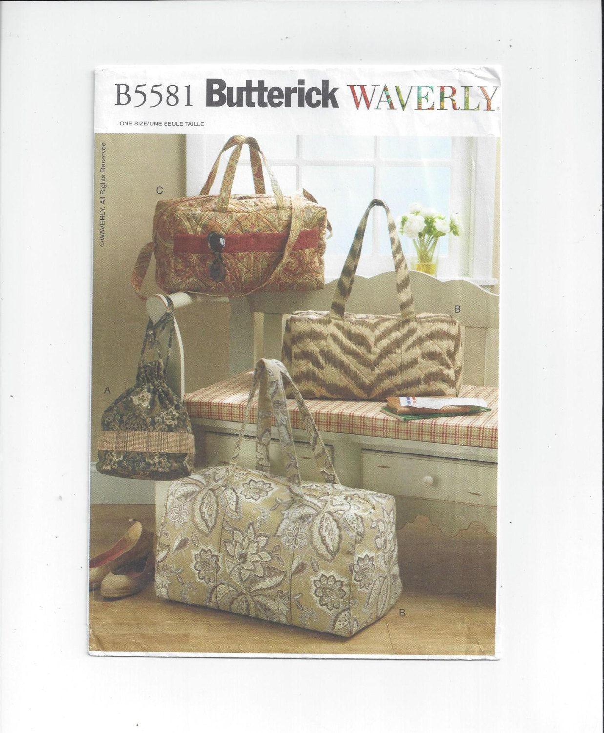 New Butterick 5581 Waverly Pattern for Drawstring & Duffle Bag ...