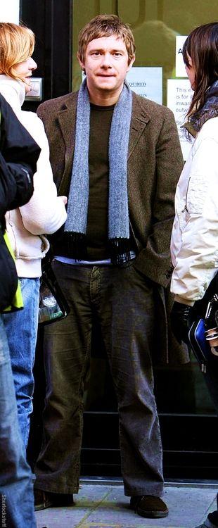 Adorable scarf wearing Martin